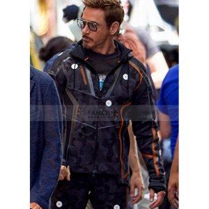 Tony Stark Camo Infinity War Hooded Jacket
