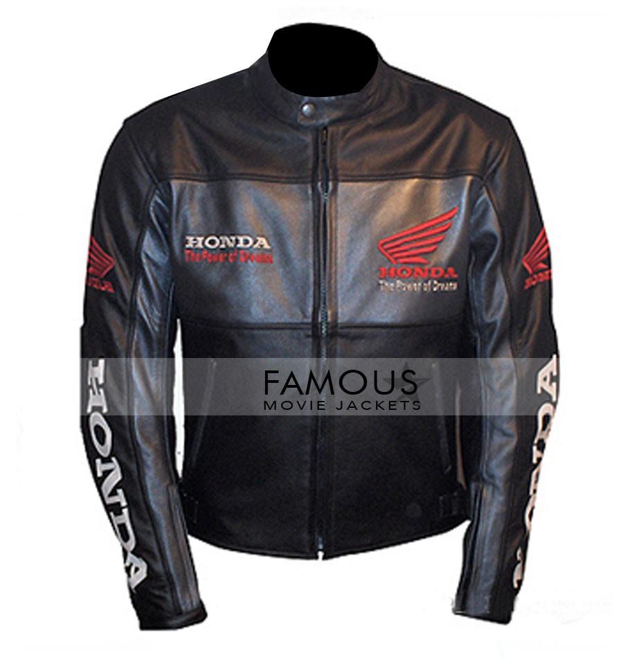 ... JacketsHonda Motorcycle Black Leather Jacket. Sale. Previous