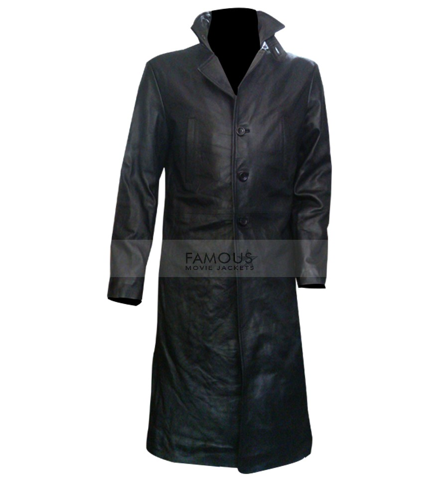 c0278e84d Mark Wahlberg Max Payne Black Leather Coat