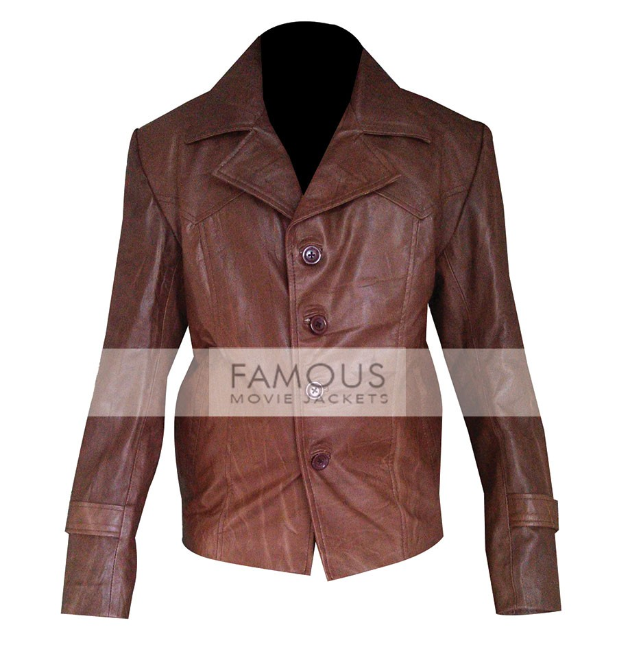 70s Style Brown Leather Jacket For Men