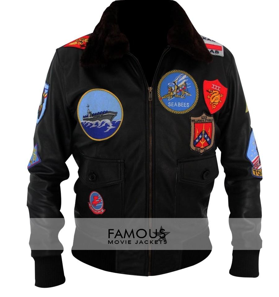 95b7f8035ed Tom Cruise Maverick Top Gun Bomber Jacket - Designer Leather Jackets ...