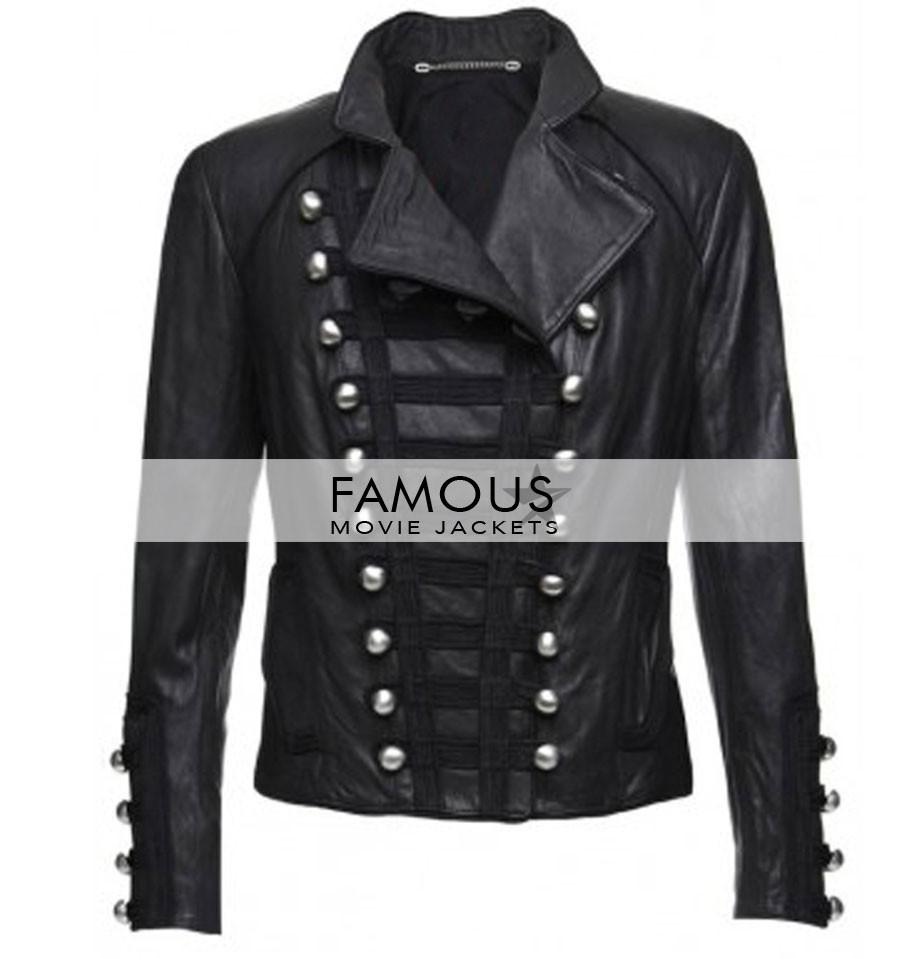 Benedetta Military Women Black Motorcycle Leather Jacket - Designer ... a69692b39b